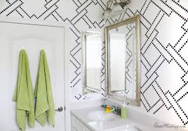 bathroom wall stencil ideas stenciling and bath makeover house mix