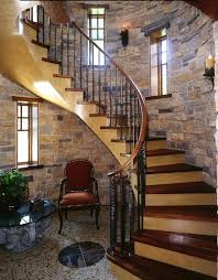 castle staircase staircase traditional with mosaic tile floor dark