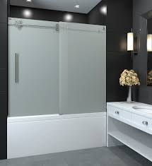 Frosted Frameless Shower Doors by Galaxy Frosted Tub Shower Door Nezza