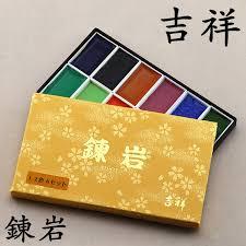 online shop kissho mineral pigment paint set 12 colors japanese