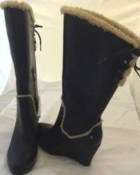 s ugg australia emilie boots chocolate ugg irmah wedge boots size 11 womens