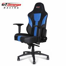 Racing Office Chairs Gt Omega Master Xl Racing Office Chair Black And Blue Leather