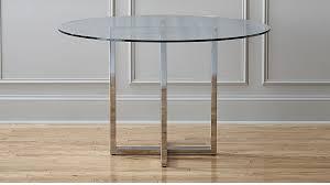 Silverado Chrome 47 Round Dining Table Reviews Cb2