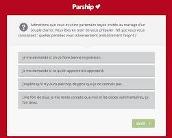 questionnaire mariage avis parship avis sur le site de rencontre sérieux et sûr