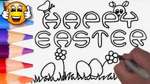 how to draw happy easter egg coloring pages for kids coloring
