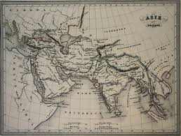Ancient Map Andree Map Of Asia 1903
