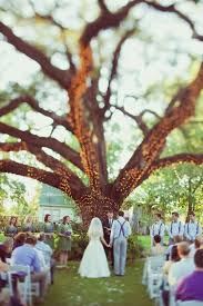 outdoor tree lights for summer handcrafted backyard style texas wedding wedding wedding and lights