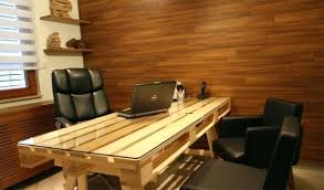 customize your own desk pallet desks a nice way to save money and to customize customize