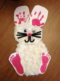 easter bunny handprint and footprint craft what i u0027ve made