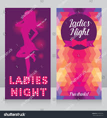 template ladies night party invitation cards stock vector