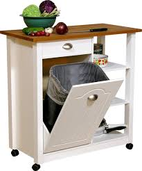 Microwave Storage Cabinet Perfect Kitchen Trash Can Storage Cabinet Solid Oak Trash Bin With