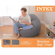 Leather Bean Bag Chairs For Adults Amazon Com Intex Beanless Bag Inflatable Chair 42