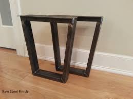 trapezoid metal bench leg steel bench legs
