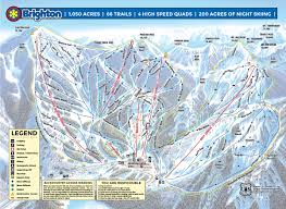 United States Snow Cover Map by Brighton Resort Snow Report Onthesnow