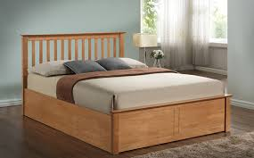 Wooden Ottomans Collection In Oak Ottoman Bed With Popular Of Wood Ottoman Bed