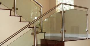 Chrome Banister Stainless Steel Stair Parts Modern Stair Railing Components
