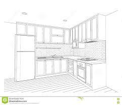 interior design kitchen stock illustration image 77612369