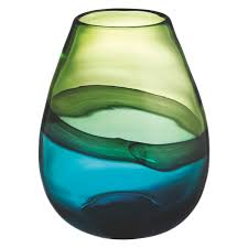 Glas Vases Cielo Blue And Green Glass Vase Glass And Interiors