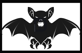 halloween cartoon drawings how to draw a halloween bat by darkonator drawinghub