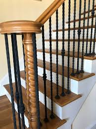 Oak Banisters Which Black Paint Color And Finish Is Best For These Oak Banisters