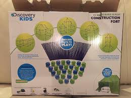 amazon com discovery kids construction fort 77pc build u0026 play