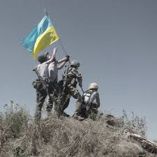 Marines Holding Flag In Ukraine Lenin Gets The Boot From Uncle Sam
