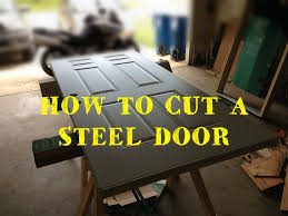 Steel Basement Doors by How To Cut And Resize A Steel Clad Entry Door 5 Steps