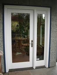 Wood Patio French Doors - i really like this option for flyscreens for french doors double