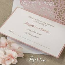 Wedding Invitation Reply Card Laser Cut Reply Card With Envelope Rsvp U0026 Thank You Card U2013 Paper