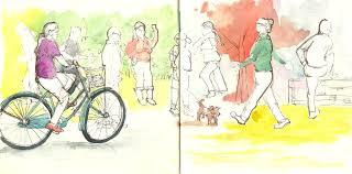 morning walk sketch google search illustrations india