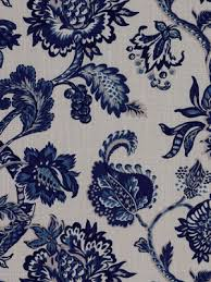 Upholstery Fabric For Curtains Navy Floral Upholstery Fabric Drapery Fabric Blue White Floral