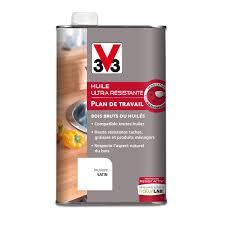 protection plan de travail bois cuisine huile plan de travail resist activ v33 0 5 l incolore leroy merlin