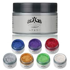 unisex diy hair color wax mud disposable temporary modeling dye