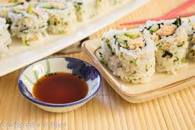 sriracha mayo sushi spicy chicken sushi roll cooking with a wallflower
