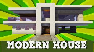minecraft how to build a modern house tutorial w indoor swimming