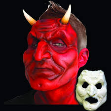 prosthetic halloween mask devil with classic horns mostlydead com