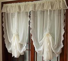 White Balloon Curtains Balloon Valances Amazon Com