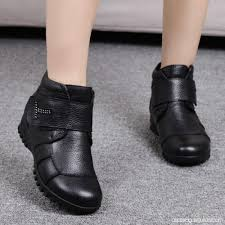 buy ankle boots malaysia winter shoes genuine leather flat ankle boots warm