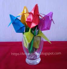 cara membuat origami bunga yang indah cara mudah membuat origami bunga tulip kreasi ceria