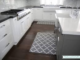Kitchen Carpet Ideas Island And Rug Kitchen White Gray Geometrics Modern Kitchen Carpet