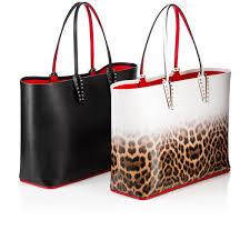cabata tote bag black calfskin handbags christian louboutin