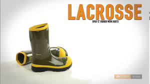 lacrosse spog 12 u201d rubber work boots safety toe for men youtube