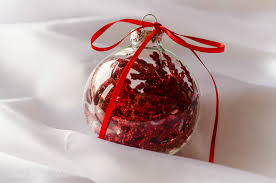 Clear Glass Christmas Ornaments To Decorate by Decorated Clear Glass Christmas Ornaments Using Sparkling Floral Picks
