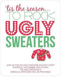 ugly christmas sweater party invitations u2013 frenchkitten net