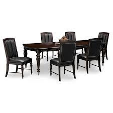 chair wood dining table and 6 chairs ashleigh solid wood dining