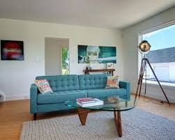 Blue Sofa Living Room Design by Teal Blue Sofa Houzz