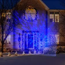 blue and white led christmas lights we also put up a christmas