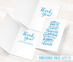business thank you cards printable thank you cards small business thank you cards