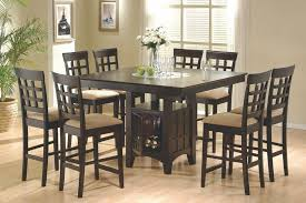 counter height dining room table coaster 100438 s7 alberty 7pc counter height dining collection