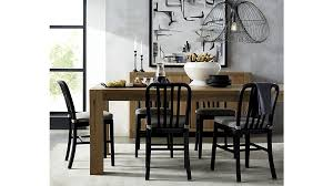 delta matte black dining chair crate and barrel